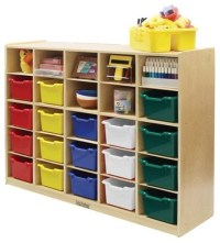 ECR4KIDS 25 Tray Cabinet with Assorted Colored Bins ...