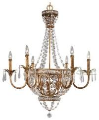 Antique Copper Crystal Chandelier - Contemporary ...