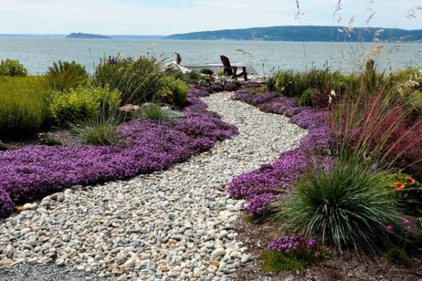 beach side garden. - modern landscape