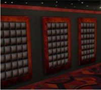 Decorative leather finish wall panels home theater ...