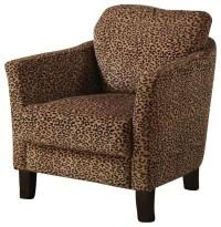 Coaster Club Chair in Cheetah Print - Transitional ...