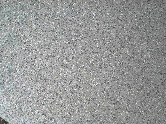 Garage Floor With Westcoat Liquid Granite Flake Floor