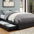 Black queen bed with storage modern beds new york by dexter