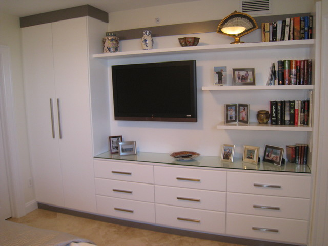 Entertainment Center Contemporary Bedroom Tampa By