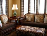 Wicker furniture in sunroom