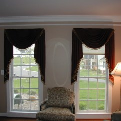 Elegant Kitchen Curtains Valances Cabinets Pulls Swags - Traditional Living Room Baltimore By ...