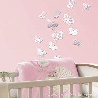 Mirrored Sweet Butterflies Wall Decals - Wall Decals - san ...