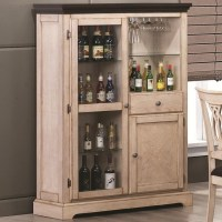 Transitional White Bar Curio Cabinet - Traditional - Wine ...