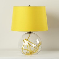 Crystal Ball Table Lamp, Yellow - Contemporary - Table ...
