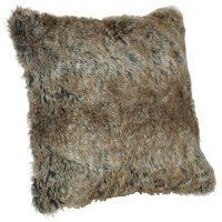 Faux Fur Pillow, Arctic Brown - Contemporary - Decorative ...