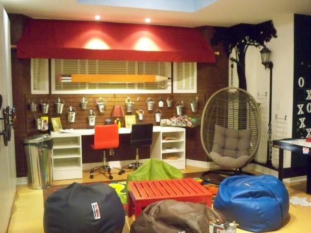 Playroom for tweens and teens  Eclectic  Kids  toronto