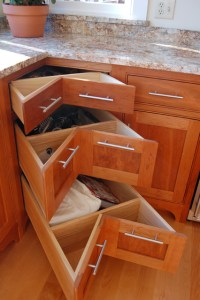 Corner pullout drawers - Traditional - burlington - by ...