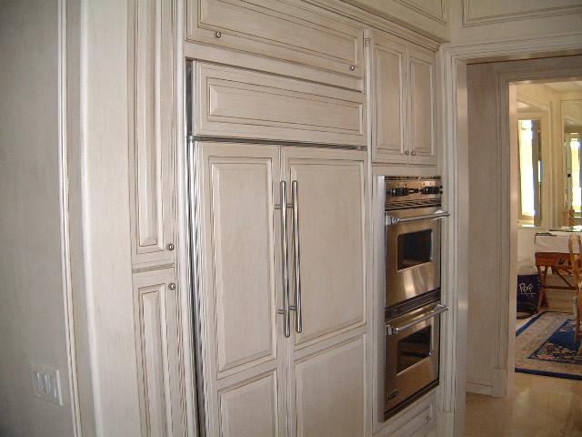 Kitchen Cabinets Cream Coffee Glazed Finish Traditional