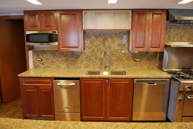 Custom Cabinets laminate Kitchen  chicago  by Space