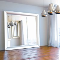 Oversized silver floor mirror - Contemporary - Floor ...