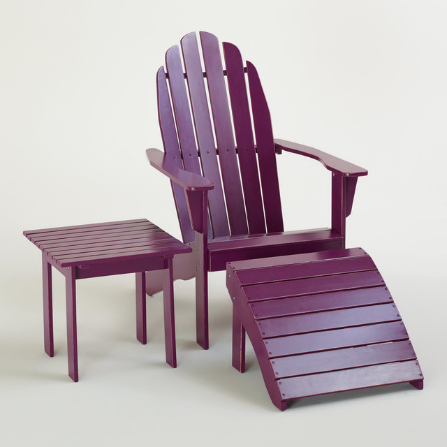 cost plus world market chairs bow arm morris chair magenta purple classic adirondack collection - modern patio furniture and outdoor ...