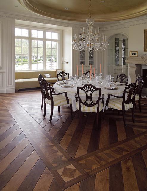 Parquet Flooring Hardwood Floor Border  Medallion Inlays Custom Made Parquet Flooring Design