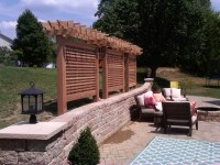 Cedar privacy screen - Modern - Patio - st louis - by ...