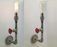 Industrial Pipe Vintage Valve Metal Sconce Light