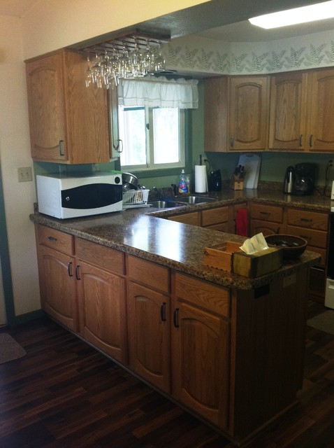 Kitchen Remodel with Cabinet Refacing and Laminate