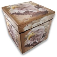 Bald Eagle Foldable Storage Ottoman 14 In.