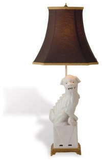 Port 68 Foo Dog Lamp Left, White - Asian - Table Lamps ...