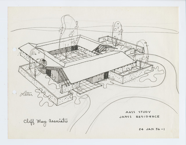 Cliff May, Janss House (Palm Springs, California): Mass