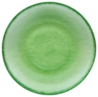 Recycled Glass Dinner Plate, Celery Green - Contemporary ...