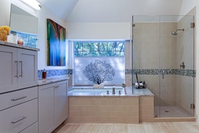 North Austin Bathroom Remodel  Contemporary  Bathroom  austin  by Paula Ables Interiors