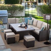 Belham Living Monticello All-Weather Wicker Sofa Sectional ...