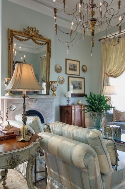 Elegant New Orleans Living Room  Traditional  new orleans  by Nelson Wilson Interiors