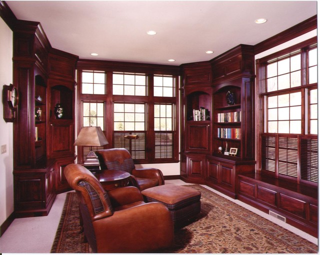 Dens  Offices  Traditional  Home Office  cincinnati  by Albrecht Wood Interiors