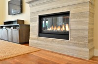 Stone Slab Fireplace. Ridges, Las Vegas