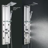 Stainless steel Rainfall Shower Panel Tower Tub Faucet 6 ...