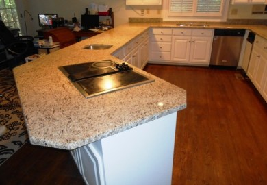 White Kitchen Cabinets With Giallo Ornamental Granite