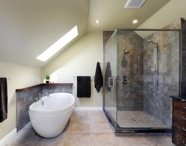 Attic Titanium Ensuite  Contemporary  Bathroom  ottawa