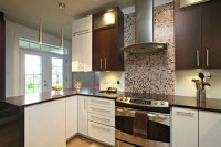 MODERN BROWN AND WHITE KITCHEN - Modern - Kitchen ...