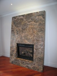 MODERN STONE SLAB CUSTOM FIREPLACE - Modern - Living Room ...