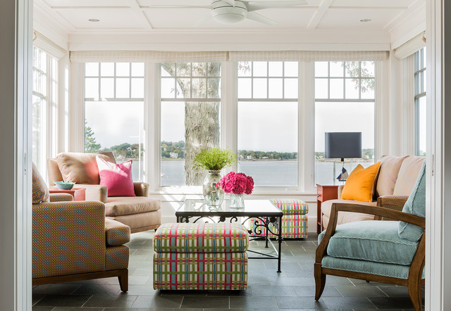 Colorful Seaside Residence Hingham MA  Transitional