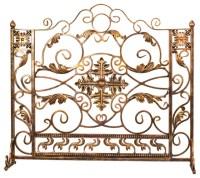 Luxury bronze and gold custom iron fireplace screen ...