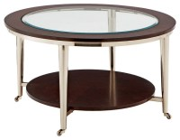 Norton Cocktail Table - Glass Top - 35in. Round ...