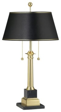 Georgetown Solid Brass Desk Lamp - Traditional - Table Lamps