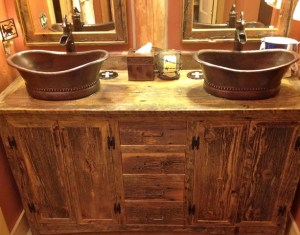 Rustic Bathroom Double Vanity