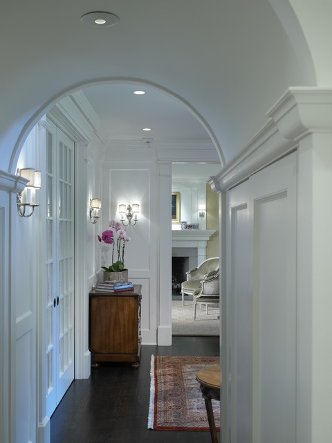 Georgian Rebirth Hallway Arch  Traditional  Hall  chicago  by Burns and Beyerl Architects