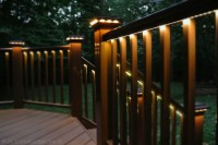 Deck with Rail Lighting - Traditional - Porch - dc metro ...