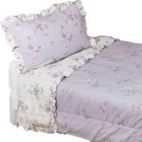 Shabby Chic King Comforter Set Purple Flowers Bedding ...