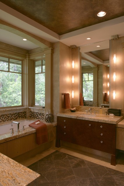 Prairie Style in the Woods  Contemporary  Bathroom