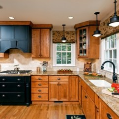 Oak Cabinet Kitchen Countertops Lowes How To Update A Without Painting Your Cabinets Industrial Pendant Lights With