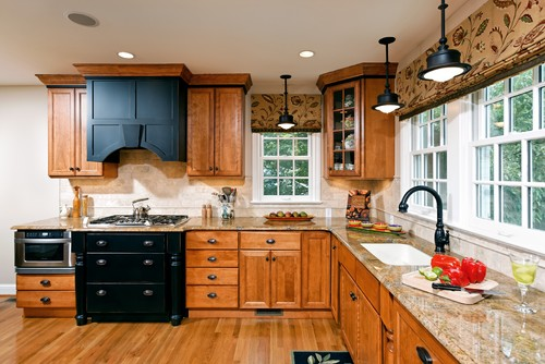 oak cabinets kitchen cabinet degreaser how to update a without painting your industrial pendant lights with