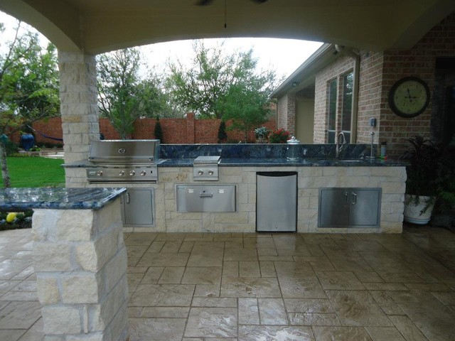 photos summer kitchen and fire pit eclectic patio houston